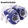 Primero Walker Zapatos de Niño Bebé Zapatos de Las Muchachas de la Lona Estrella Patrón Antideslizante Bebé Suave Suela YEW334