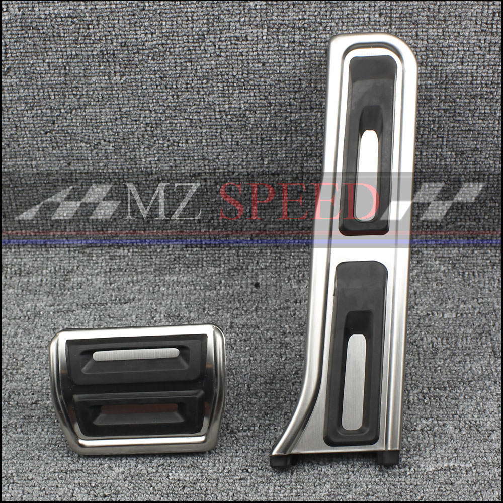 Nulla Stainless Steel Fuel Gas Brake Foot <font><b>Pedal</b></font> Pad Cover Set For <font><b>Audi</b></font> <font><b>A3</b></font> 2004 2005 2006 - 2012 Q3 Car Styling Accessories LHD image