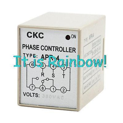 Free Shipping Red Indicator Light AC 380V Reverse Phase Controller Relay