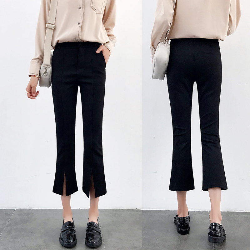 High-waisted Flare Pants Women 2018 Summer New Hot Fashion Female Casual Loose Ankle-length Pants Trousers Bottoms 4