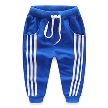2017 spring children's clothes boys pants causal solid three bars cotton thin baby boy sports pants for boys kids long trousers