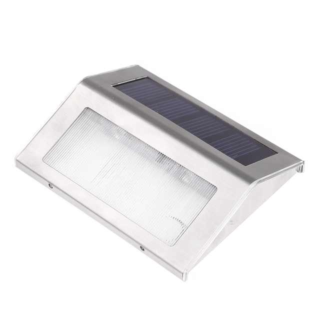 Solar Power 2 LEDs Outdoor waterproof Garden Pathway Stairs Lamp Light Energy Saving LED Solar wall Lamp Warm White Cold white