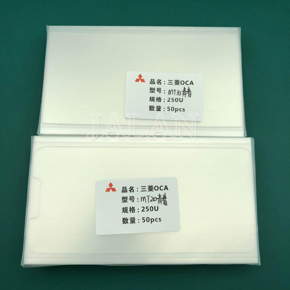 Jalan 50 Pcs 250um OCA Perekat untuk HUAWEI Mate 10/20 Lite OCA Lem Sentuh Layar Kaca Lensa Laminating Digunakan untuk mitsubishi Film