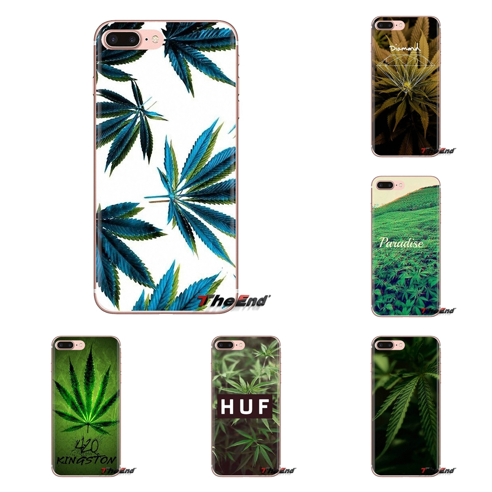 Us 099 Silicone Bag Case Weed Pastel Rainbow Wallpaper For Xiaomi Mi3 Samsung A10 A30 A40 A50 A60 A70 Galaxy S2 Note 2 Grand Core Prime In Fitted