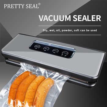 PRETTYSEAL 220V-240V Household Food Vacuum Sealer Packaging Machine Film Sealer Vacuum Packer Including 5Pcs Bags