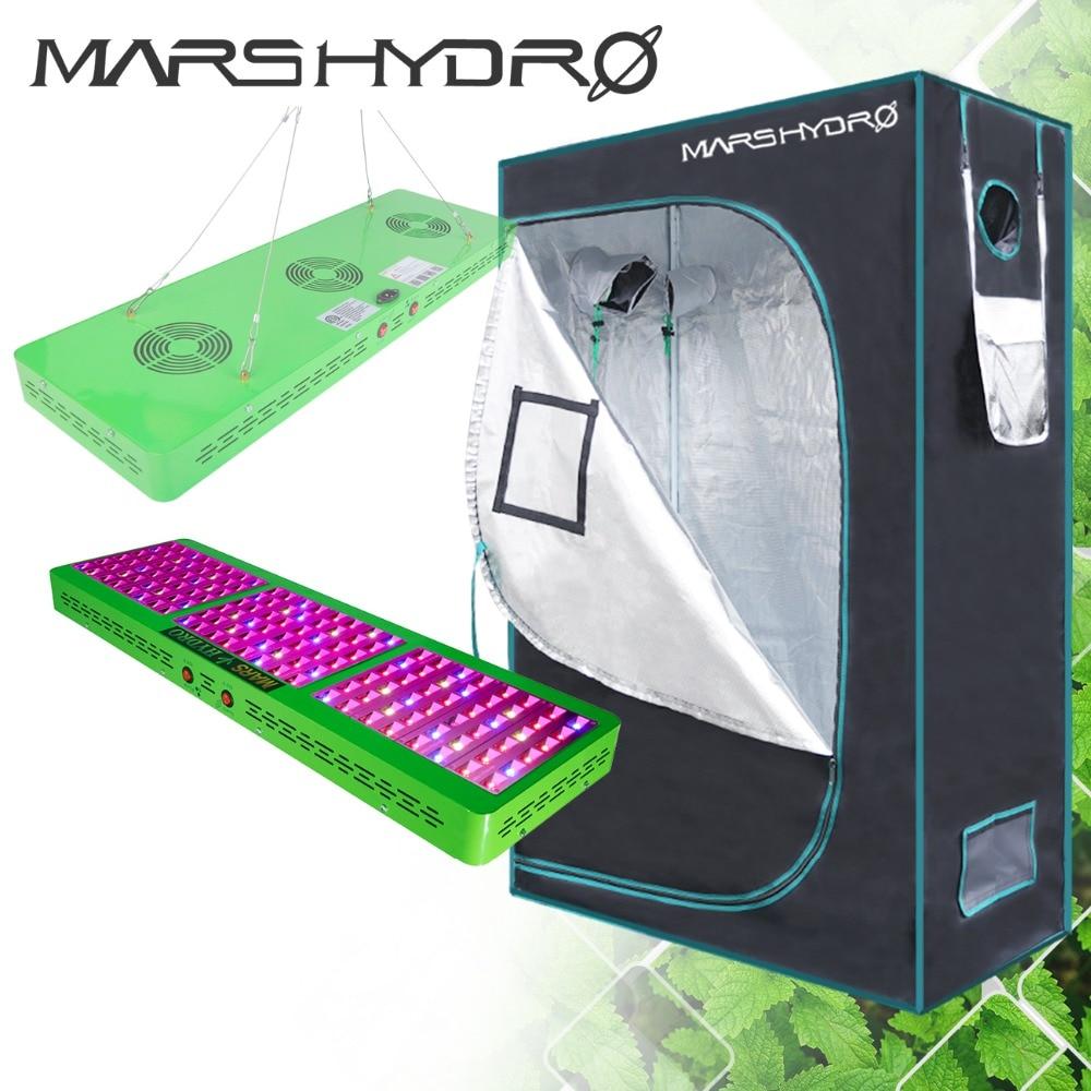 Mars Hydro Reflector 720W LED Grow Light Full Spectrum Switches+120*60*180cm grow tent