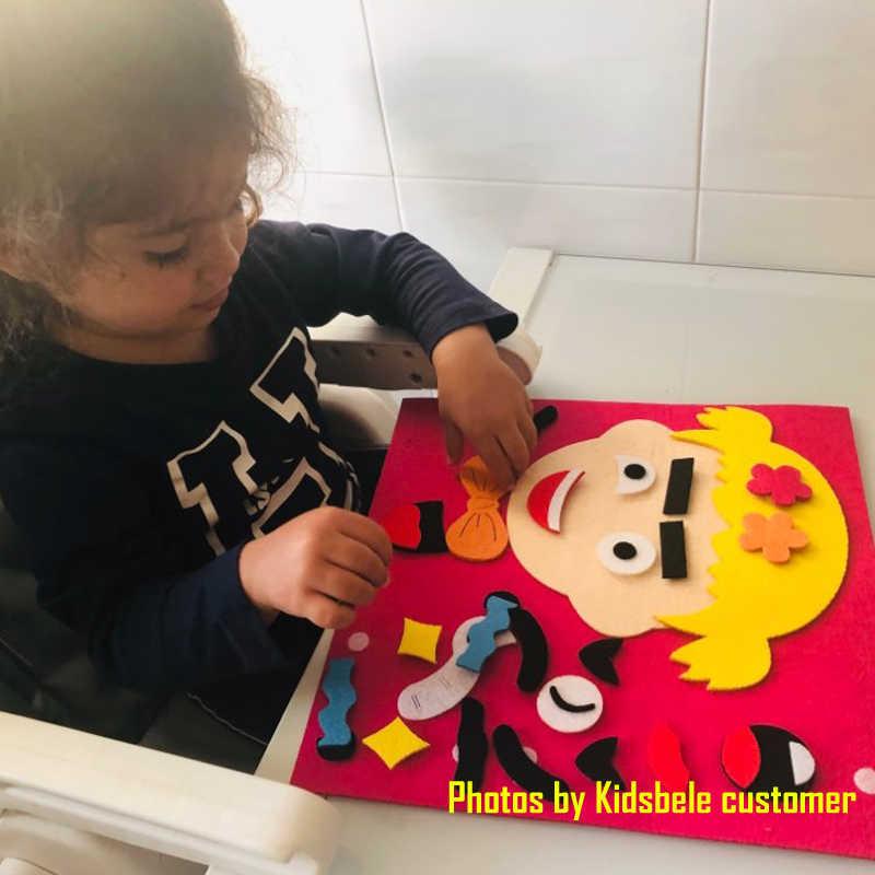 DIY Mainan Emosi Perubahan Mainan Puzzle 30 Cm * 30 Cm Kreatif Ekspresi Wajah Anak Mainan Pendidikan untuk Anak-anak Belajar lucu Set