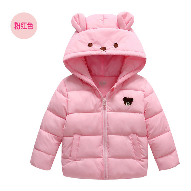 new arrival girl coats and jackets winter dave and bella outerwear cartoon bear baby girl kids clothes children casual coat 2-8T