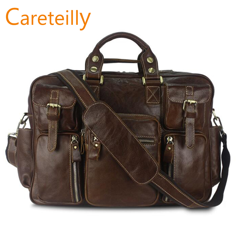 Careteilly Cow Leather Duffel Bags Business Travel Duffel Bags For Men 4 Colors Option
