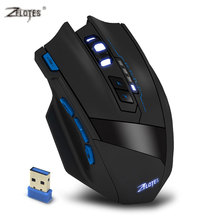 ZELOTES model 2500DPI 9 Buttons Laptop Mouse Optical USB Wi-fi Gaming Mouse Skilled Sport Mice for Laptops Desktops