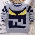 Cartón de Diseño de moda Suéter Nuevo Invierno Suéter Suéteres de Algodón Engrosada En Fábrica de Ropa Para Niños Al Por Mayor