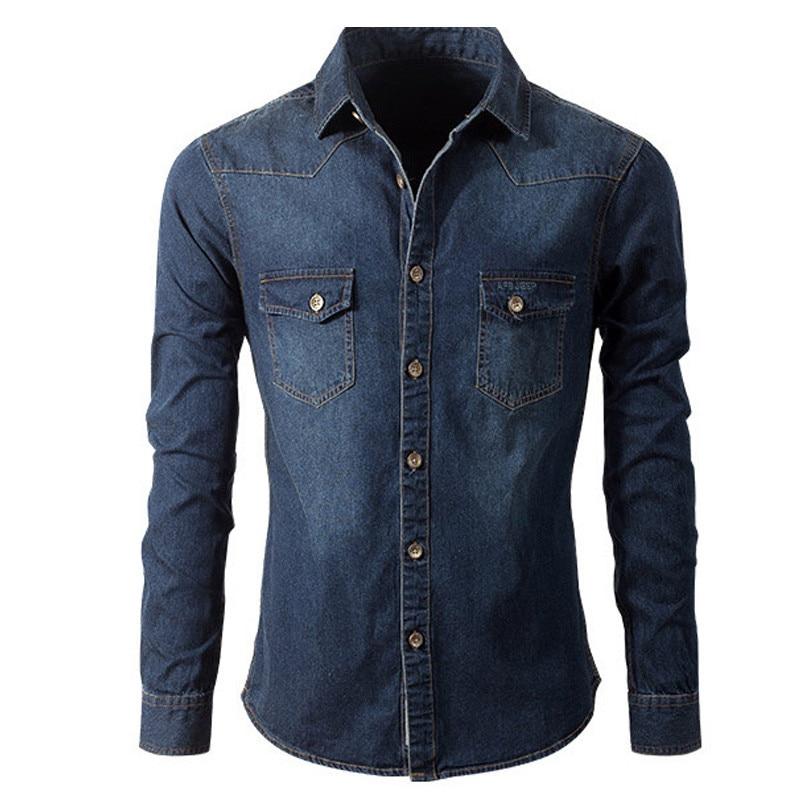 Buy afs jeep men jeans shirt slim fit for Buy denim shirts online