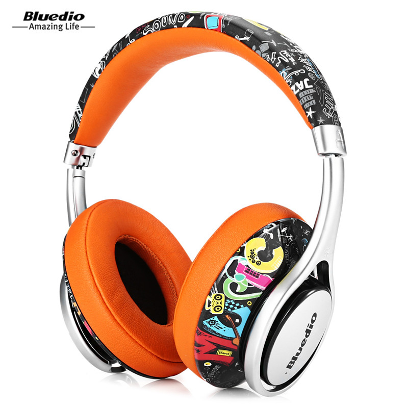 Bluedio A2 Bluetooth Headphones Over-Ear Headset Fashionable Wireless Headphones For Phones And Music iskas headphones bluetooth subwoofer ear phones bass original music technology best new free tecnologia eletronica phone good