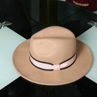רחבים ברים נשים מזדמן קוריאני כובע צמר אוסטרלי הרגיש מגבעת מגבעת ג 'אז שווי Vintage חורף סומבררו Mujeres פדורה