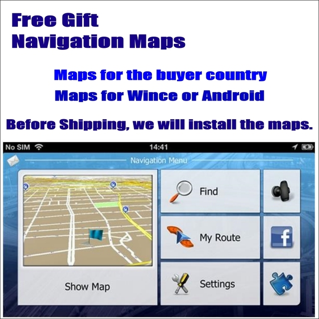 Free Gift GPS NAV NAVI Navigation Maps For Europe, North America, Australia, Asia Countries, etc Most Of worldwide Countries