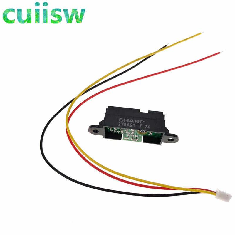 5PCS GP2Y0A21YK0F Sharp IR Analog Sensor Distance 10-80CM Cable For Arduino