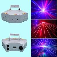 DJ сценический эффект света мини RGB Лазерный свет Веерообразный шесть глаз сканирующее освещение с DMX лазерный луч диско свет для dj клуб