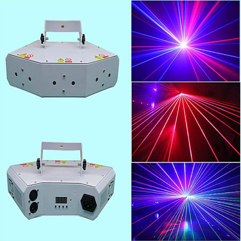 DJ stage effect light mini RGB laser light fan-shaped six eyees scanning lighting with DMX  laser beam disco light for dj clubDJ stage effect light mini RGB laser light fan-shaped six eyees scanning lighting with DMX  laser beam disco light for dj club