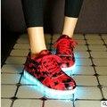 2017 Sapatos de Alta Qualidade Led Homem Schoenen Acender Homme Chaussures Para Homens Sapatos Casuais Luminosas Adultos Lumineuse