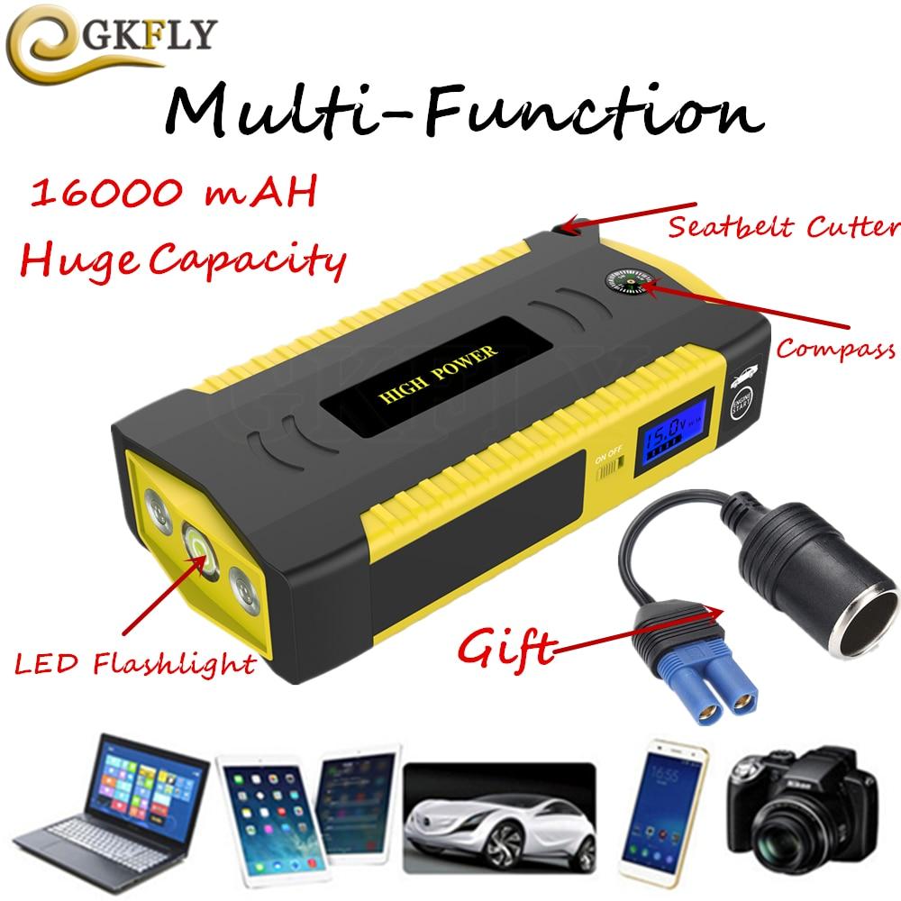 Vente Haute Capacité 16000 MAh Voiture Saut Starte 600A 12 V ...