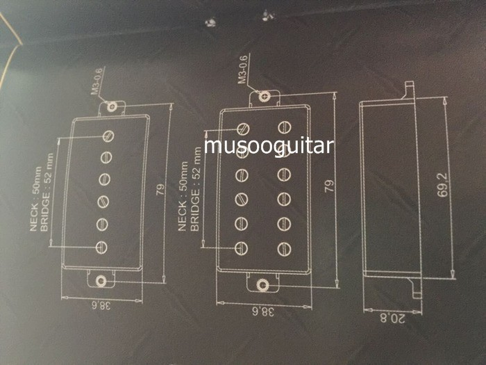Artec Humbucker Aktive Pickups Mit Kompletter Verkabelung Setup ...