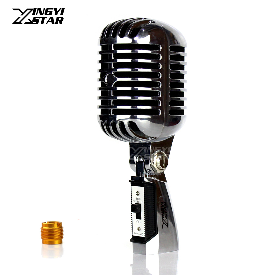Professional Metal Classic Retro Dynamic Microphone Vintage Vocal Mic For 55SH Series II Bar Singing Launchpad