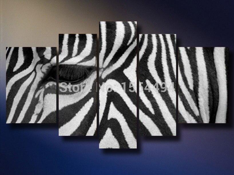 Free Shipping Large Modern Abstract Zebra Black White