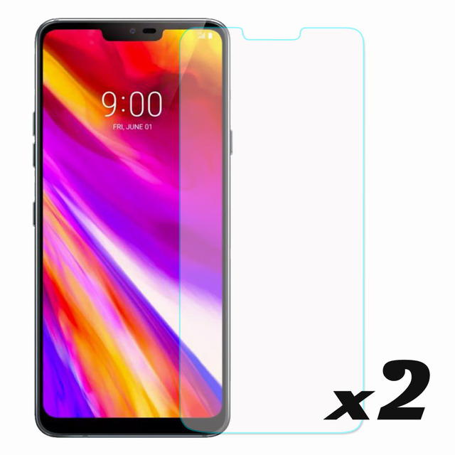 elegaming 2 x Tempered Glass Screen Protector Ultra Thin Anti Scratch For LG G7 ThinQ