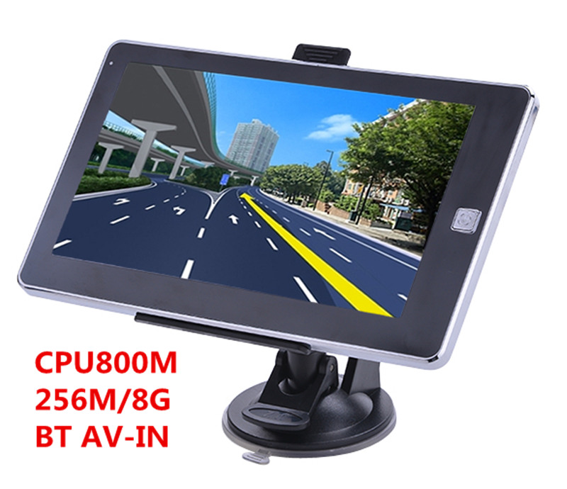 GPS Navigation AV-IN Bluetooth 256M/8GB 7inch With Multi-Language Free-Latest Maps Maps