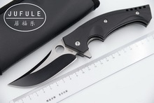 JUFULE OEM MAMBA C196 Teniendo acero CPM S30V Cuchillo Plegable G10 Acampa de La Supervivencia del Bolsillo Cuchillos de Caza de Utilidad herramientas EDC
