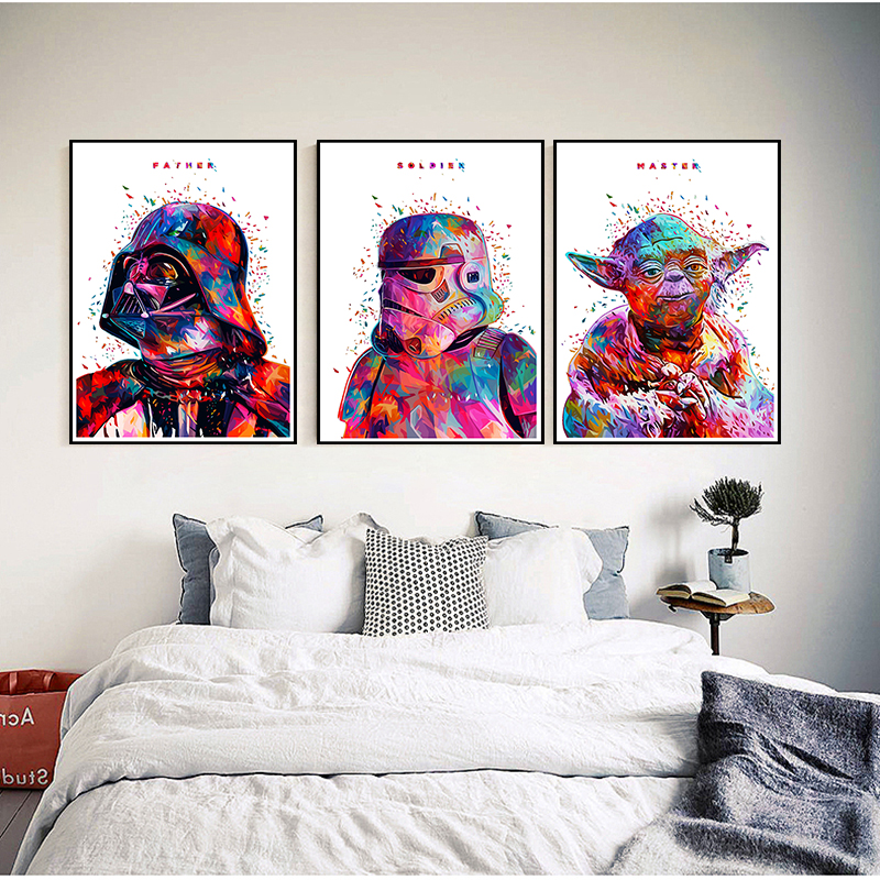 Mixed Order Classic Movie Star Wars Darth Vader Luke Jedi Poster Cafe Bar Home Decor Coated Paper Poster Wall Sticker 42*30cm(China)