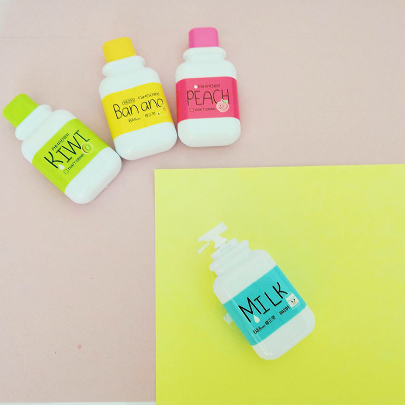 Cute Milk Correction Tape Kawaii Corrector For School 5mm*6m Stationery School Supply Papeleria Supplies 5mm x 5m deli sweet kawaii cloud shape mini correction tape korean stationery novelty office school supplies kids study tool