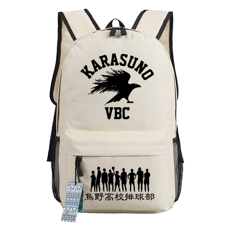 Japanese Haikyuu Karasuno VBC Hinata Syouyou COS Printing Women Backpack Canvas School Backpacks For Teenage Girls Travel Bags