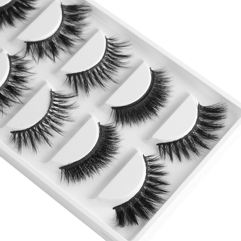 3e3e2901d9f 5 Pairs Multipack 3D Soft Mink Hair False Eyelashes Handmade Wispy Fluffy  Long Lashes Natural Eye Makeup Tools Faux Eye Lashes - Brandsfire.com