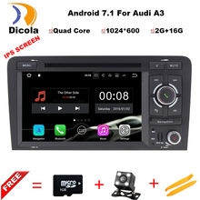 Quad Core Android 7 1 Car DVD CD player GPS Navigation Autoradio Stereo Navi for Audi