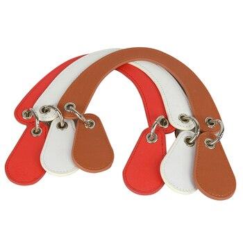 Tanqu Concise Curved Leather Removable Drops Belt Handle for Classic Mini Obag  Huntfun Square Bag City Chic Women Handbag O Bag