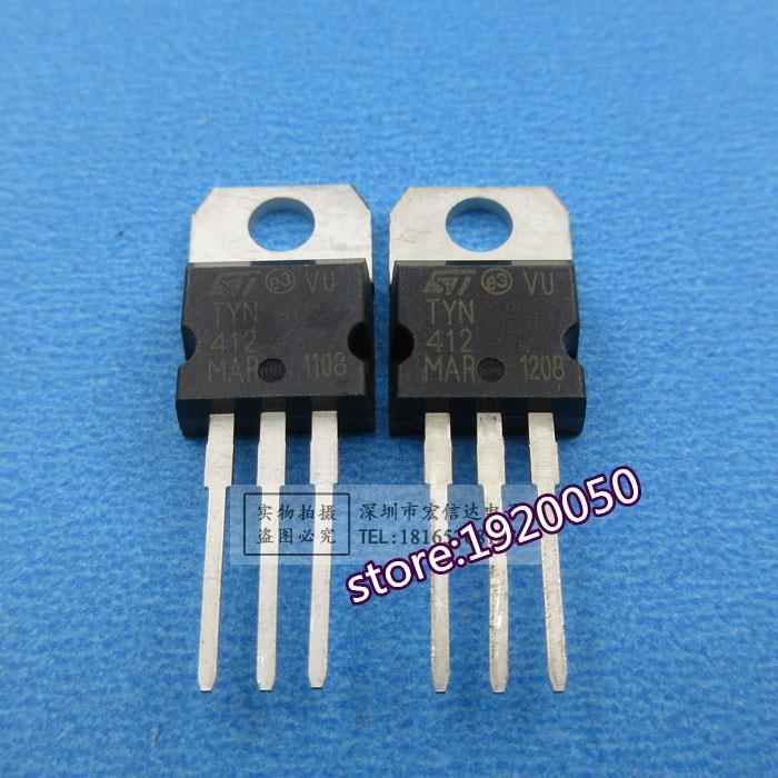2PCS TYN412 ST TO-220 12A400V IC Unidirectional thyristor