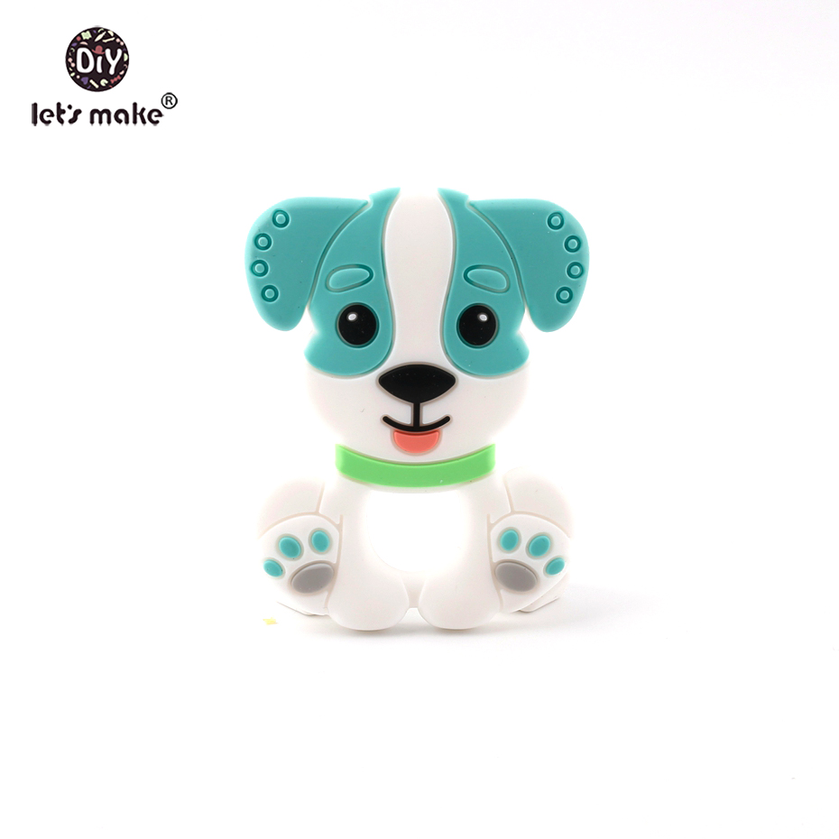 Let's Make BPA Free Silicone Baby Teether Nurse Gift Cute Dog DIY Teething Jewelry Accessories Nursing Toys Silicone Pendants