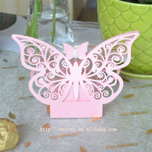 Baby Shower Favors Pink Paper Butterfly Box For Baby Shower Party