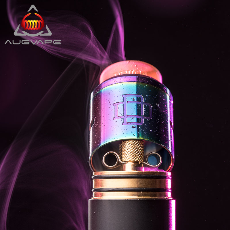 Augvape Druga RDA Atomizer Electronic Cigarette Tank 24mm Big Airflow Atomizer Tank RDA DIY Rebuildable E-cigarette Vape Tank e xy goon v1 5 rda atomizer 528 rda electronic cigarette atomizer tank rebuildable dripping atomizer adjustable