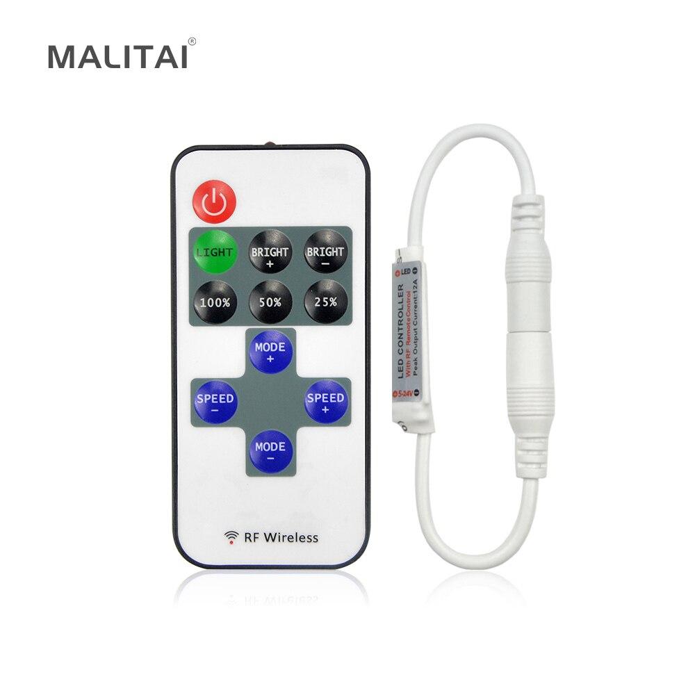 1 Satz Einfarbige Fernbedienung Dimmer Dc 12 V 11 Schlüssel Mini Wireless Rf Led-controller Für Led-streifen Smd 5050/3528/5630 Kaufen Sie Immer Gut Licht & Beleuchtung
