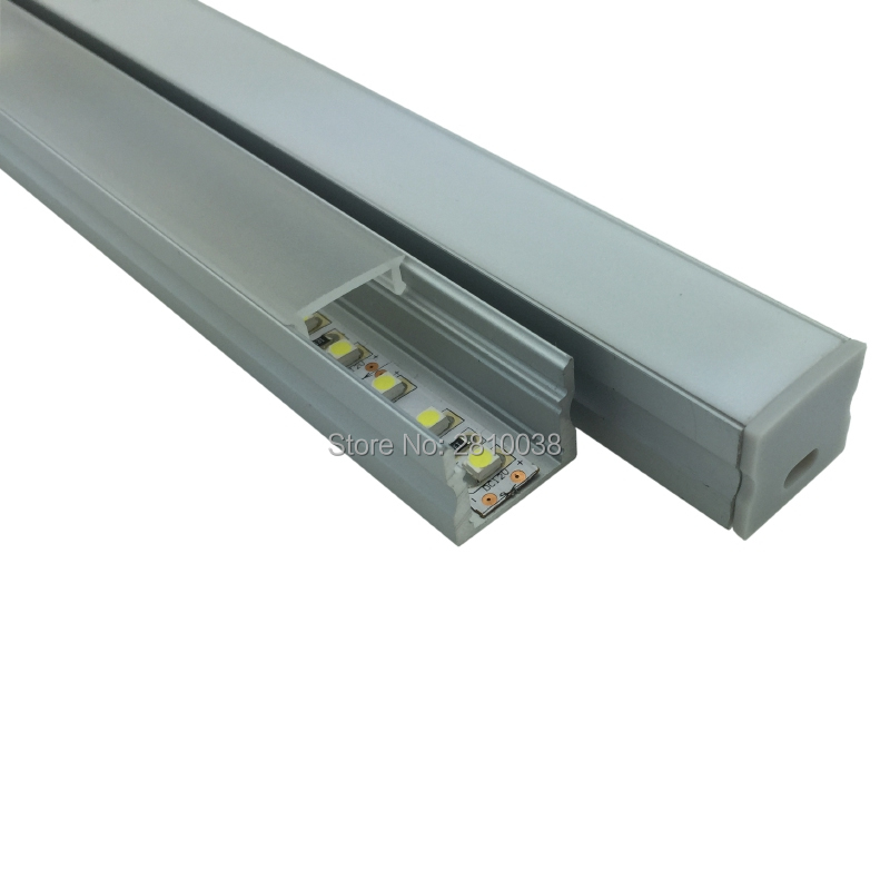 200 x 1M Sets/Lot 6000 series aluminum profile for led light and deep recessed U extrusion for wall or flooring lights