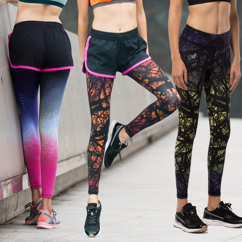 2016 Women Yoga Pants Compression Tights Sport Leggings Elastic Quick Dry Female Jogging Fitness Bodybuilding Running Pants