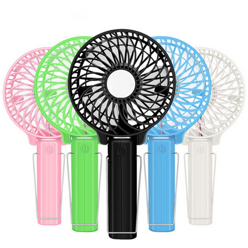 Foldable Hand Fans Battery Operated Rechargeable Handheld Mini Fan Electric Personal Fans Hand Bar Desktop Fan usb fan mini electric personal fans led portable rechargeable desktop fan battery cooling operated fan