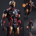 Marvel Comics Avengers Play Arts Kai  iron man Pioneer movable battle scene 27CM Christmas gifts action figures toy