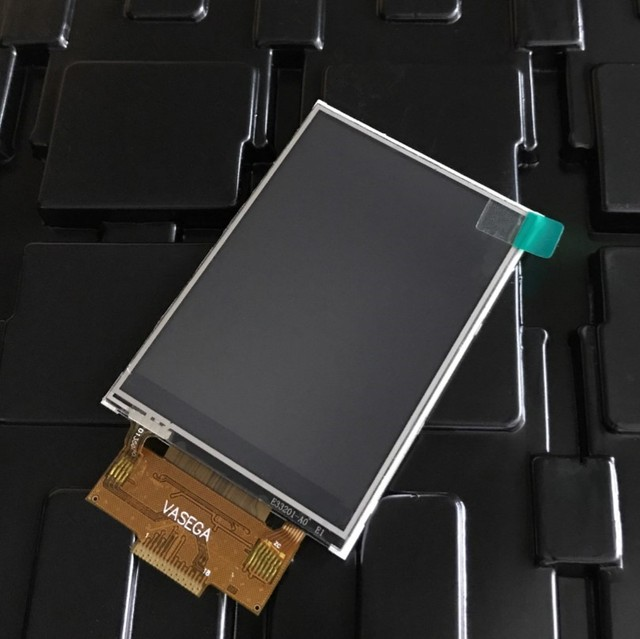 NoEnName_Null 3.2 inch SPI serial color with touch LCD screen TFT ILI9341 driver 4IO port can drive