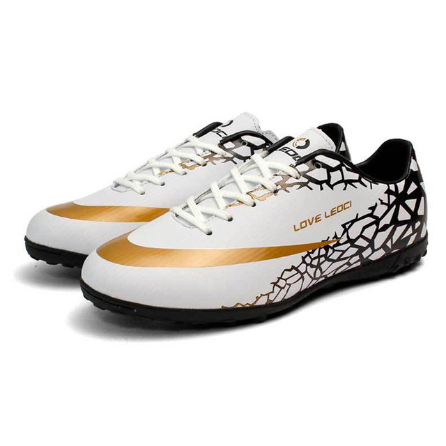 Leoci Size 33-44 Men Boy Kids Soccer Cleats Turf Football Soccer Shoes TF Hard Court Sneakers Trainers Football Boots S53