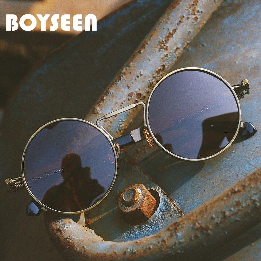 Case Mens Ladies Classic Retro Metal Vintage Silver Mirror  Pilot Sunglasses