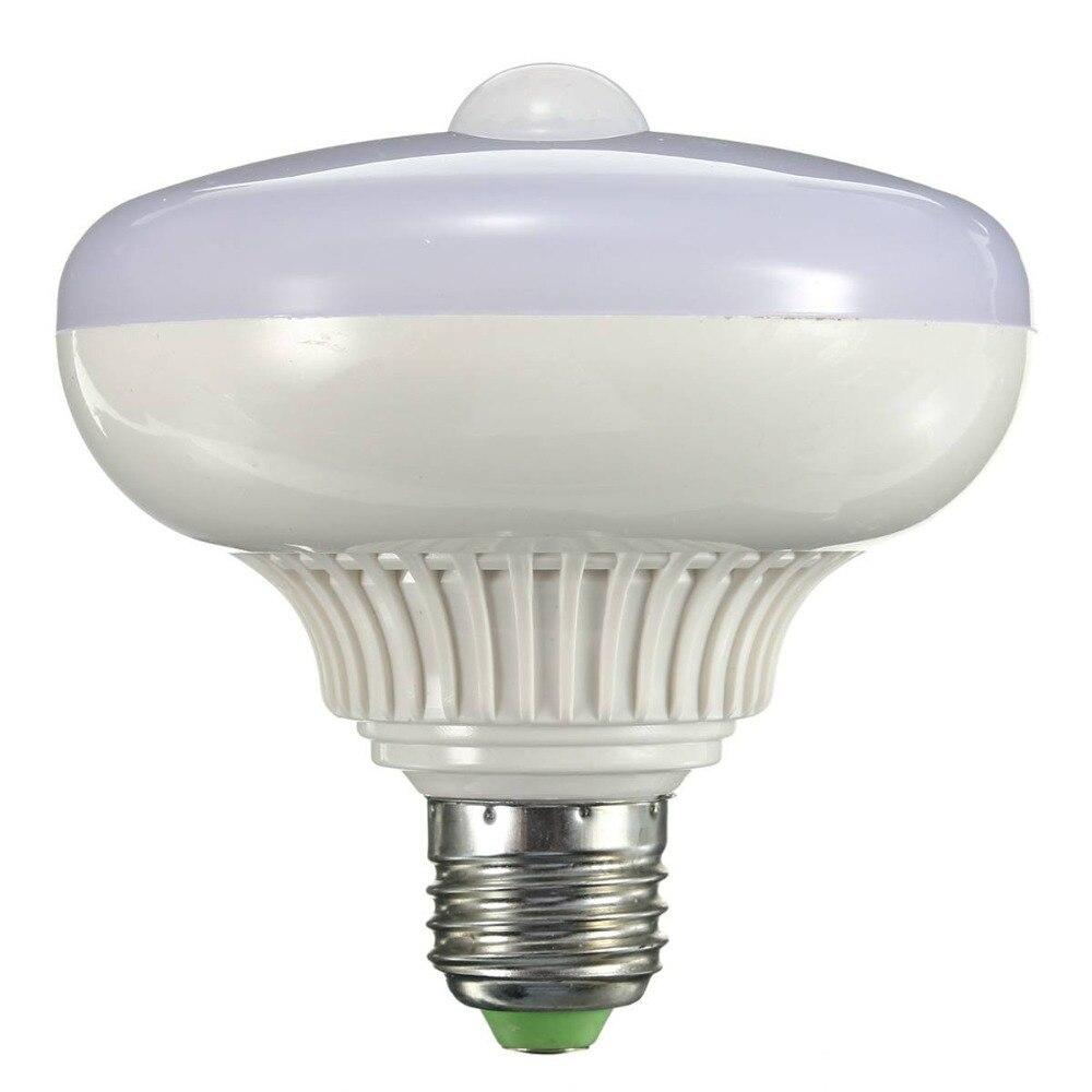 LumiParty Capteur LED Lampe E27 12 w LED Infrarouge Lumière De Détection De mouvement Auto Commutateur Escaliers Nuit Lumières Blanc Chaud Motion lampe