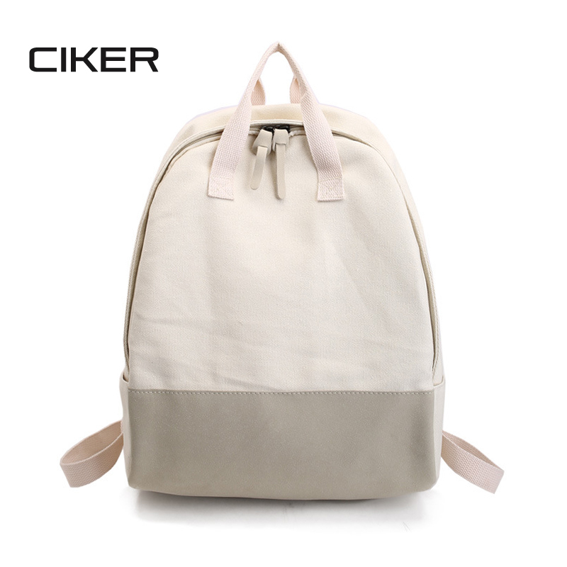 CIKER brand fashion bag women canvas backpacks for teenage girls vintage female shoulder bag student school bags mochila escolar